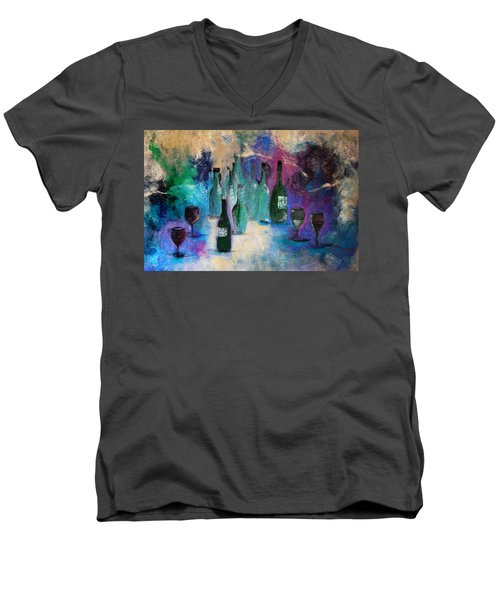 Men's V-Neck T-Shirt featuring the painting Cheers by Lisa Kaiser