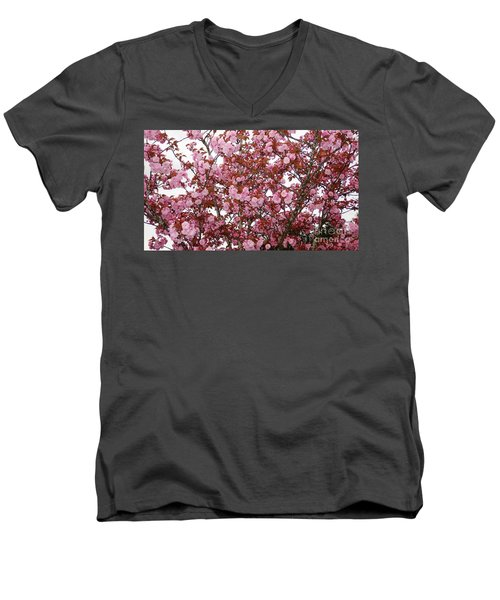 Men's V-Neck T-Shirt featuring the photograph Cherry Blossoms  by Victor K
