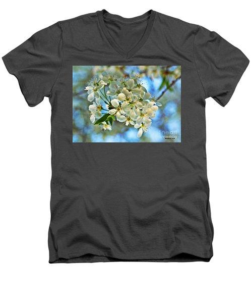 Cherry Tree Flowers Men's V-Neck T-Shirt