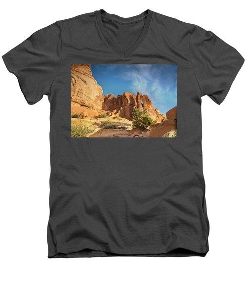 Chesler Sunset Men's V-Neck T-Shirt