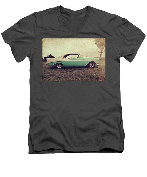 Chevy Bel Air Men's V-Neck T-Shirt
