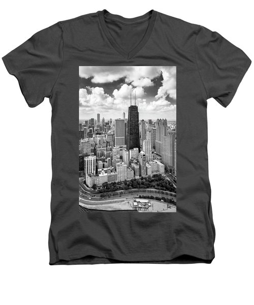 Men's V-Neck T-Shirt featuring the photograph Chicago's Gold Coast by Adam Romanowicz