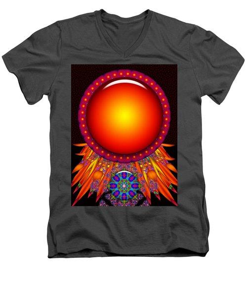 Men's V-Neck T-Shirt featuring the digital art Children Of The Sun by Robert Orinski