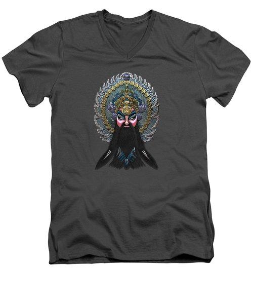 Chinese Masks - Large Masks Series - The Emperor Men's V-Neck T-Shirt