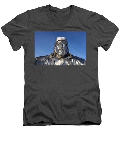 Chinggis Khan/tsagaan Sar Men's V-Neck T-Shirt