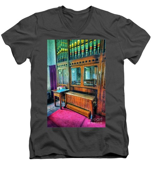 Church Organ Men's V-Neck T-Shirt