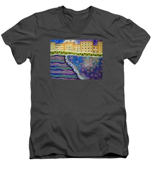 City Scape Men's V-Neck T-Shirt