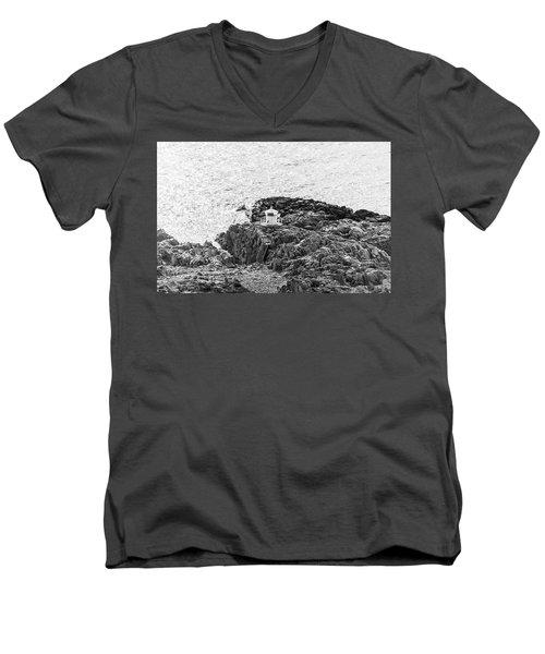 Cliffs At Kullaberg Men's V-Neck T-Shirt