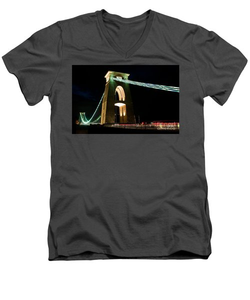 Clifton Suspension Bridge, Bristol. Men's V-Neck T-Shirt