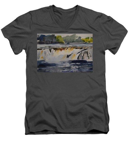 Cohoes Falls Study 2 Men's V-Neck T-Shirt