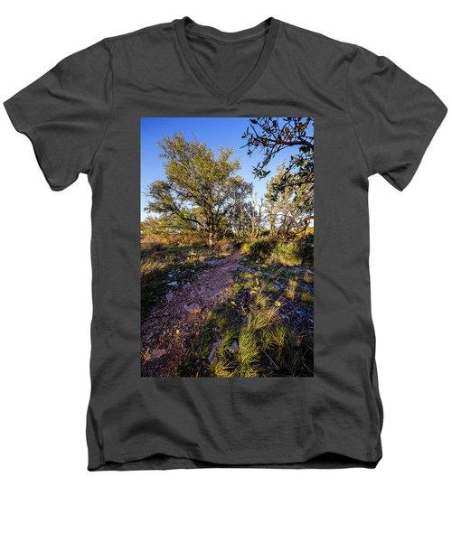 Colorado Bend State Park Gorman Falls Trail #2 Men's V-Neck T-Shirt by Micah Goff