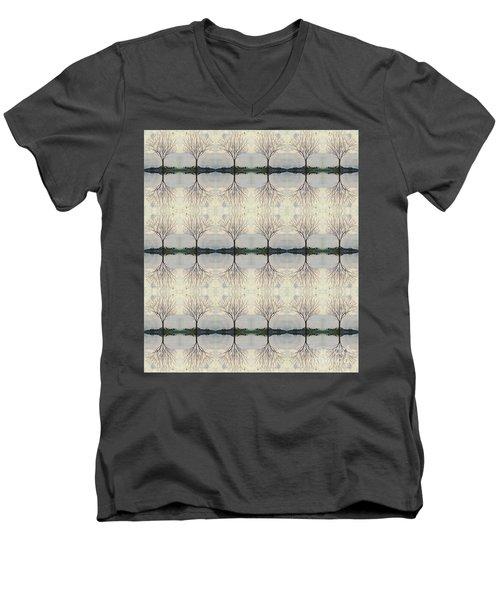 Colorado Cottonwood Tree Mirror Image  Men's V-Neck T-Shirt