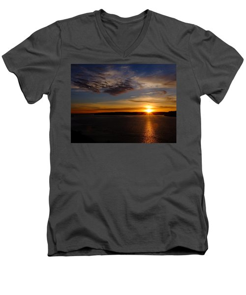 Colors Men's V-Neck T-Shirt by John Rossman
