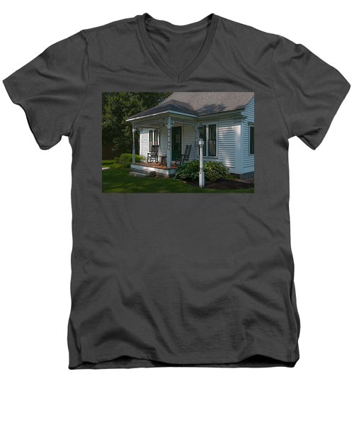 Come Sit On My Porch Men's V-Neck T-Shirt by Brenda Jacobs