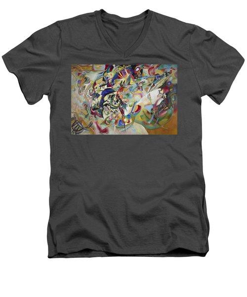 Composition Vii Men's V-Neck T-Shirt by Wassily Kandinsky