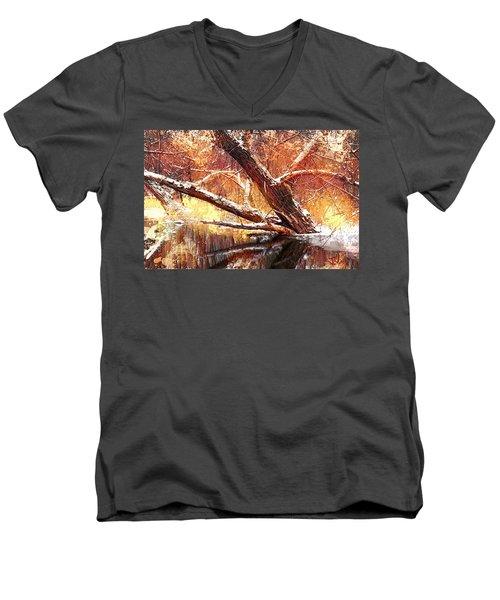 Cordukes Creek  Men's V-Neck T-Shirt by Jim Vance