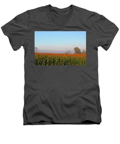 Cornfield Moonset Men's V-Neck T-Shirt