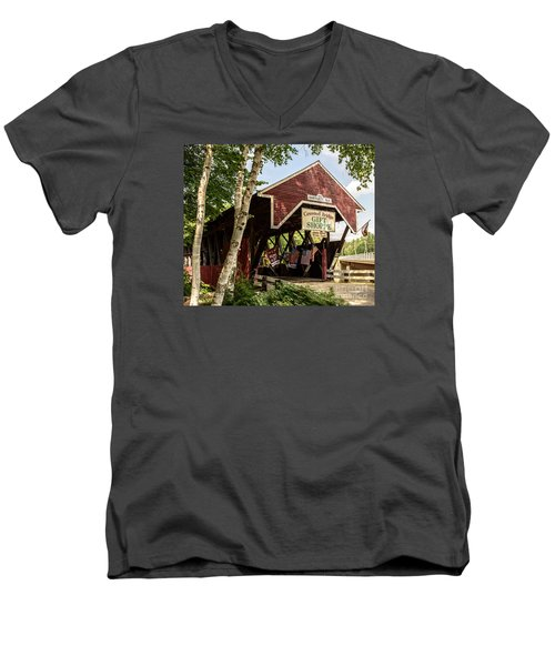 Covered Bridge Gift Shoppe Men's V-Neck T-Shirt