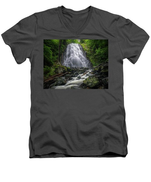 Crabtree Falls North Carolina Men's V-Neck T-Shirt