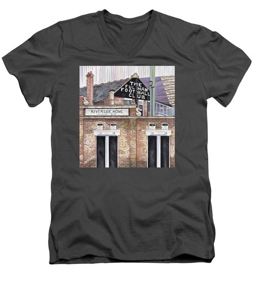 Craven Cottage Men's V-Neck T-Shirt by Scott Nelson