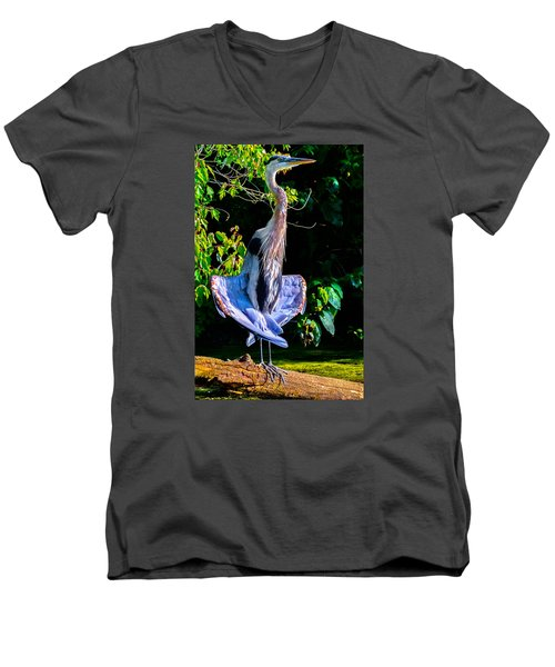 Crazy From The Heat 2 Men's V-Neck T-Shirt by Brian Stevens