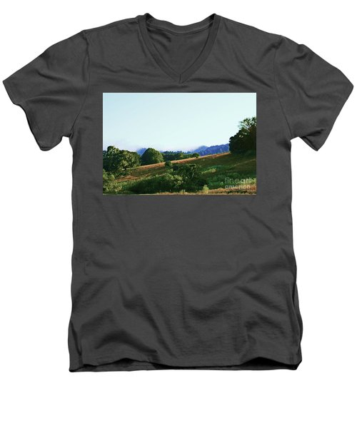 Men's V-Neck T-Shirt featuring the photograph Creator's Sky Painting by Polly Peacock