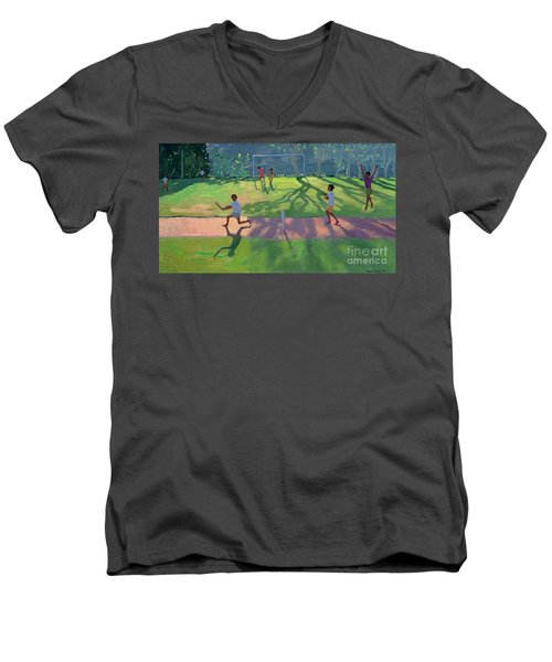 Cricket Sri Lanka Men's V-Neck T-Shirt by Andrew Macara