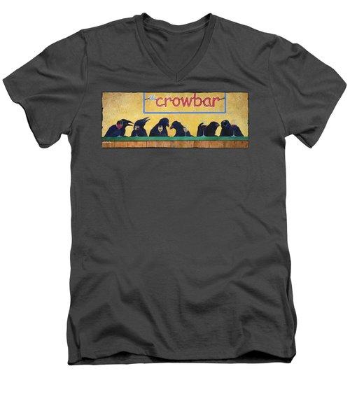 Crowbar Men's V-Neck T-Shirt by Will Bullas