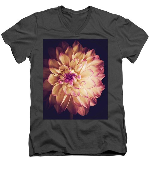 Dahlia Men's V-Neck T-Shirt