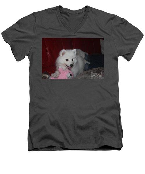 Daisy Men's V-Neck T-Shirt by David Grant