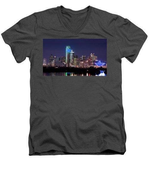 Dallas Skyline Cowboys Men's V-Neck T-Shirt