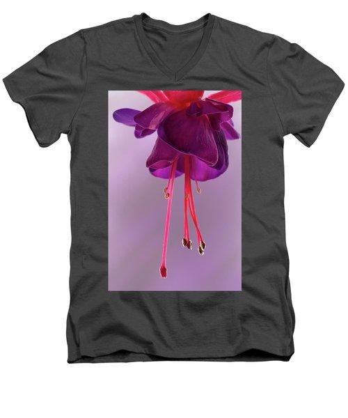 Dance Of The Fuschia Men's V-Neck T-Shirt