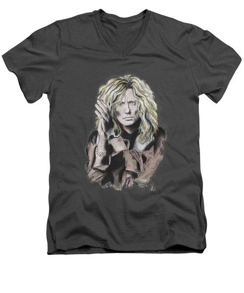 David Coverdale Men's V-Neck T-Shirt by Melanie D