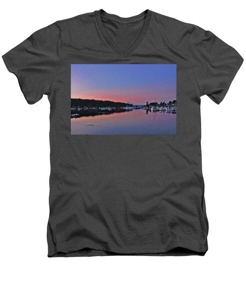Dawn At Gig Harbor Men's V-Neck T-Shirt