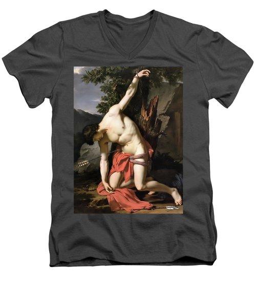 Death Of Saint Sebasian Men's V-Neck T-Shirt