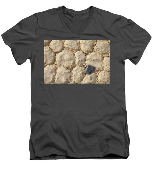 Men's V-Neck T-Shirt featuring the photograph Death Valley Mud by Breck Bartholomew