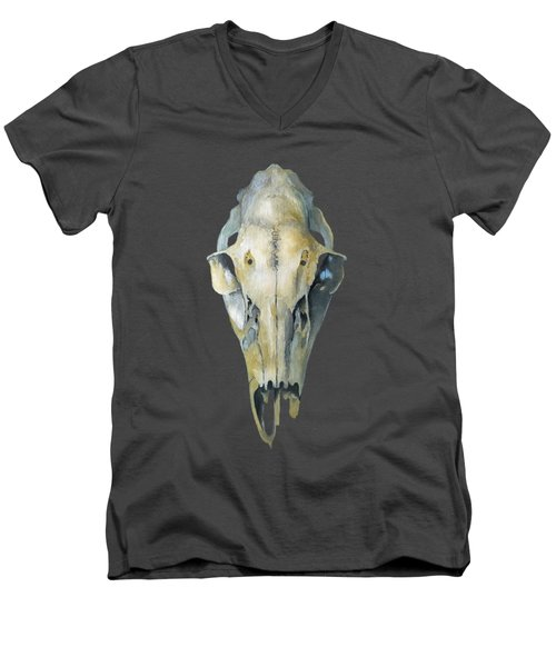 Deer Skull With Aura Men's V-Neck T-Shirt