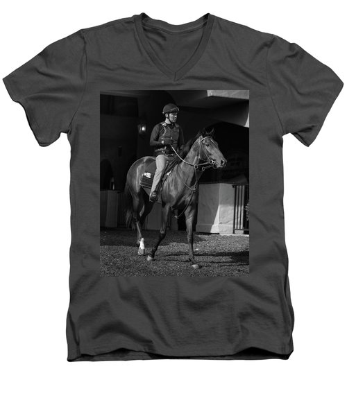 Del Mar Paddock Men's V-Neck T-Shirt