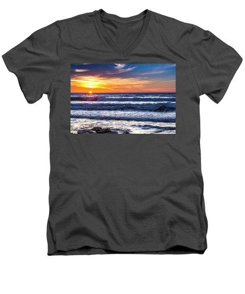 Sunset - Del Mar, California View 1 Men's V-Neck T-Shirt