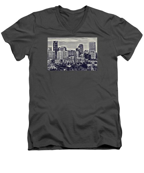 Denver Colorado Men's V-Neck T-Shirt by Steven Parker