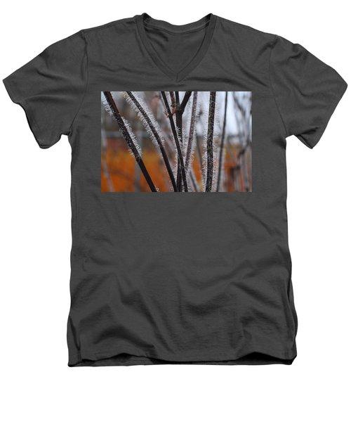 Dewdrops Men's V-Neck T-Shirt by Kathryn Meyer