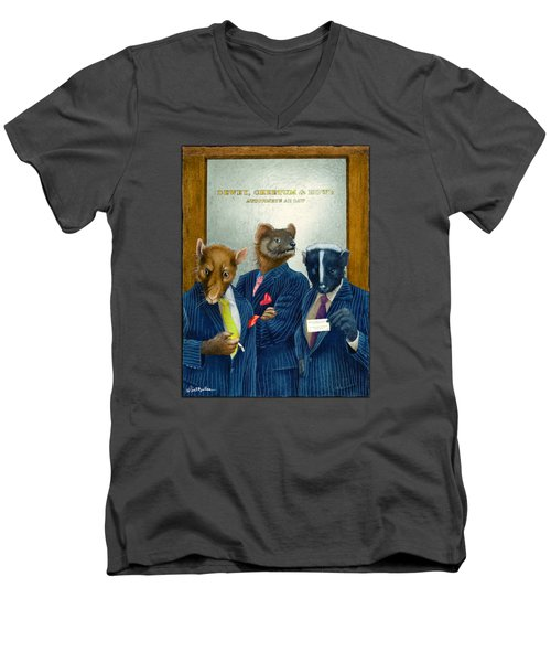 Dewey, Cheetum And Howe... Men's V-Neck T-Shirt