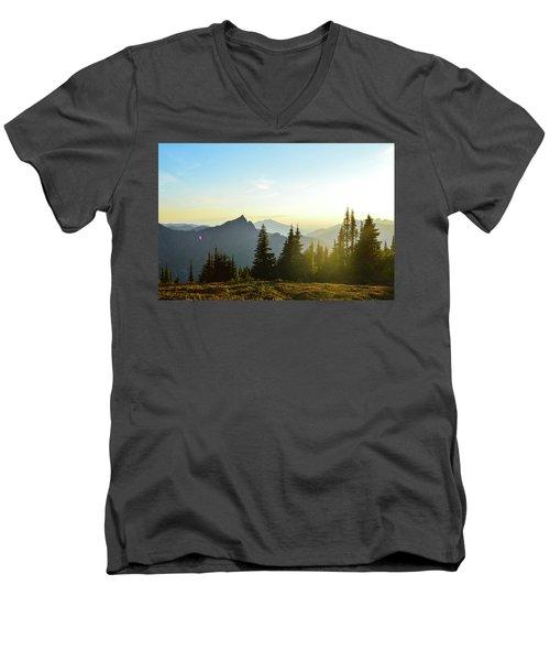 Dickerman Sunset Men's V-Neck T-Shirt