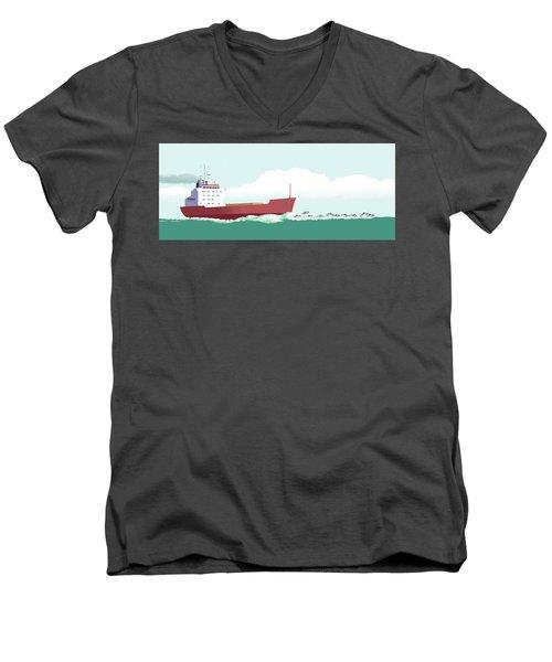 Dolphin Dance Men's V-Neck T-Shirt