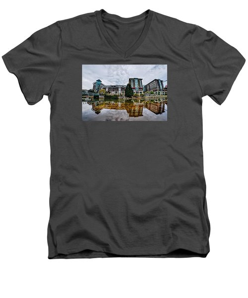 Downtown Of Greenville South Carolina Around Falls Park Men's V-Neck T-Shirt