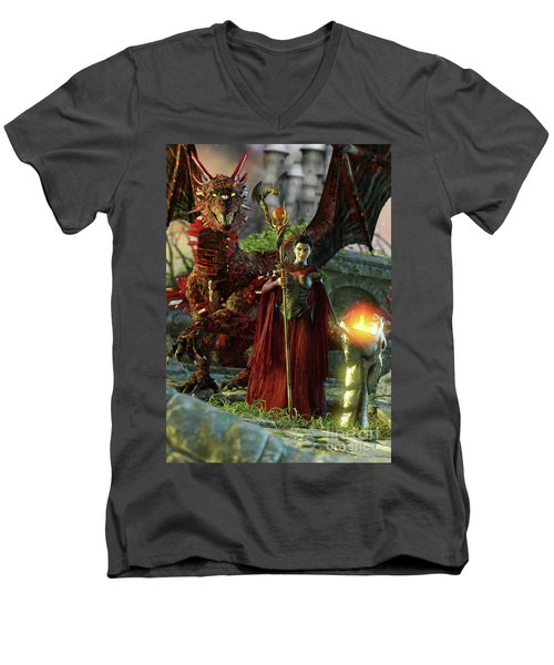 Dragon Queen Men's V-Neck T-Shirt