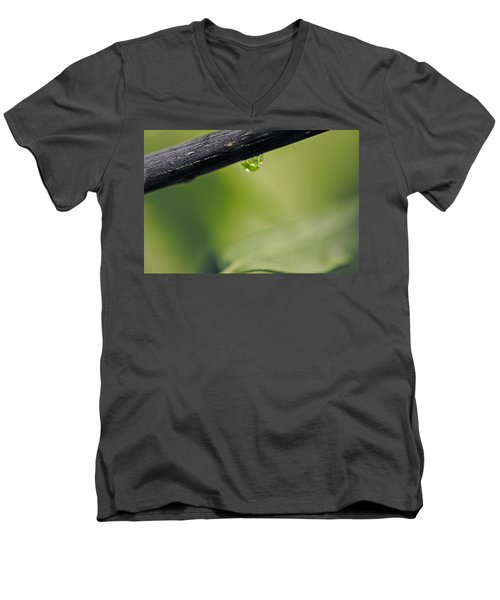 Men's V-Neck T-Shirt featuring the photograph Droplet by Cendrine Marrouat