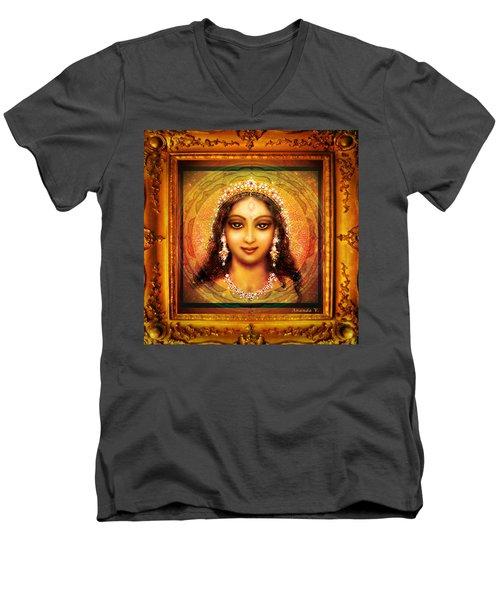 Durga In The Sri Yantra  Men's V-Neck T-Shirt