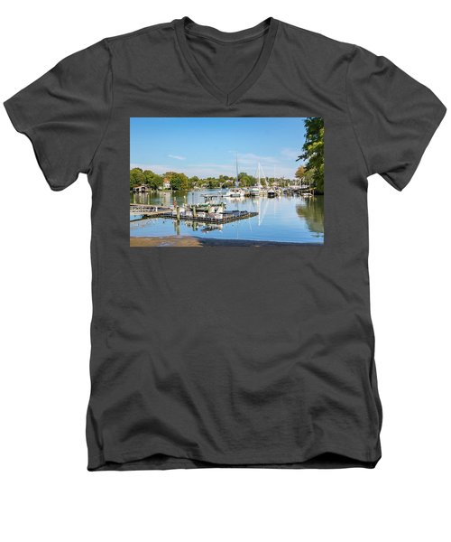 Early Fall Day On Spa Creek Men's V-Neck T-Shirt