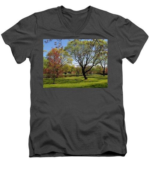 Early Spring Men's V-Neck T-Shirt